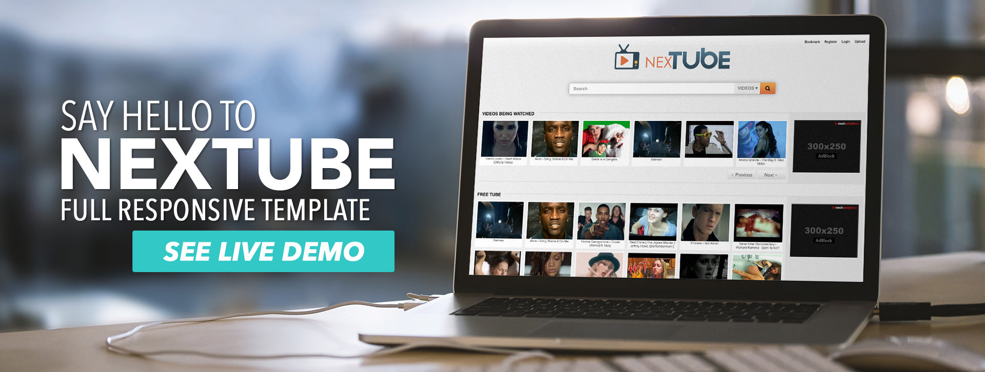 Say hello to NEXTUBE - Full Responsive Template
